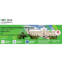 Congresul National de Farmacie din Romania, editia a XV-a, Ia?i, 24-27 Septembrie 2014