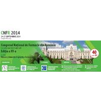 Congresul National de Farmacie din Romania, editia a XV-a, Ia?i, 24-27 Septembrie 2014