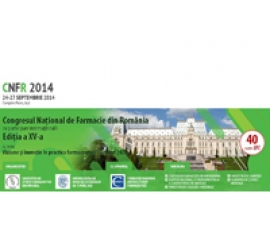 Congresul National de Farmacie din Romania, editia a XV-a, Iași, 24-27 Septembrie 2014
