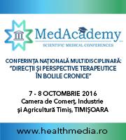 """Conferința Interdisciplinară MedAcademy: """"Direcții și perspective terapeutice în bolile cronice"""""""