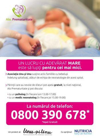"""""""Alo, prematuritate"""": linia telefonică pentru bebelușii născuți prematur"""