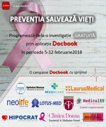 Investigații gratuite pentru pacienți prin aplicația Docbook
